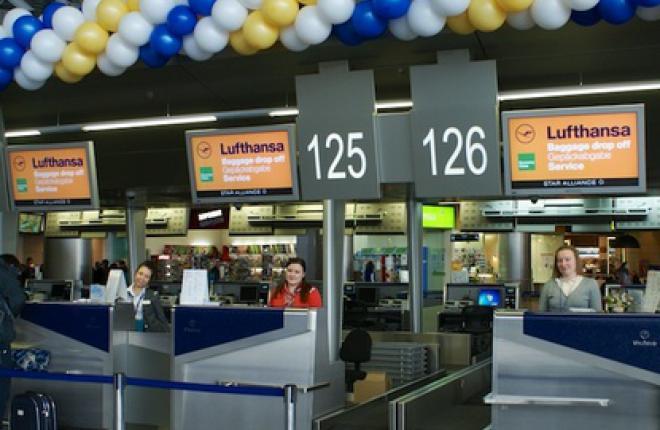 Внуково обслужил 3,26 тысяч рейсов авиакомпании Lufthansa