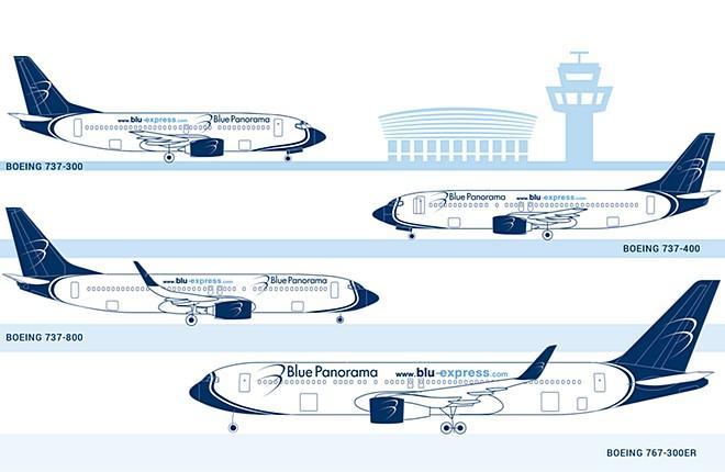 Парк авиакомпании Blue Panorama