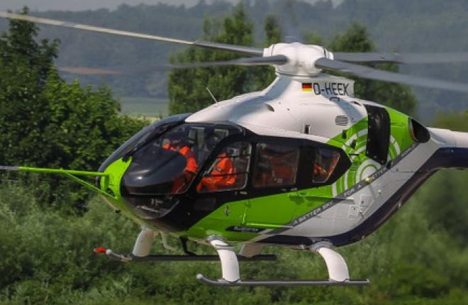 Полуэлектрический вертолет