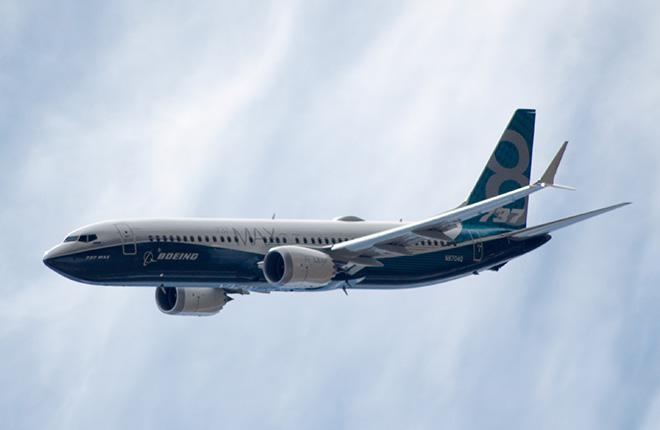 Летные испытания самолета Boeing 737MAX-8