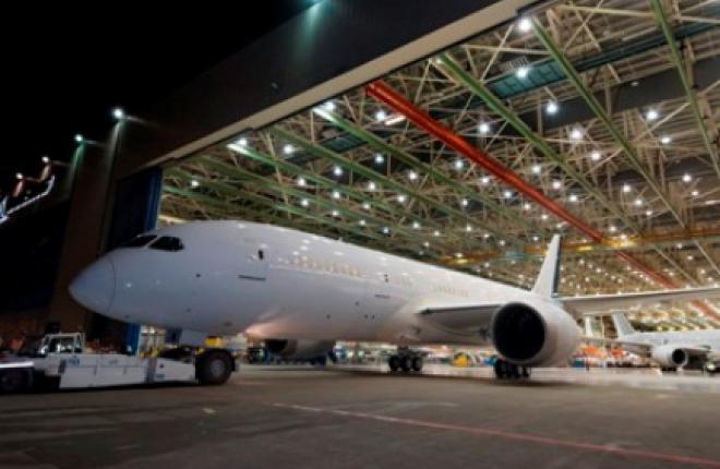 Boeing увеличивает темпы производства самолетов Boeing 787