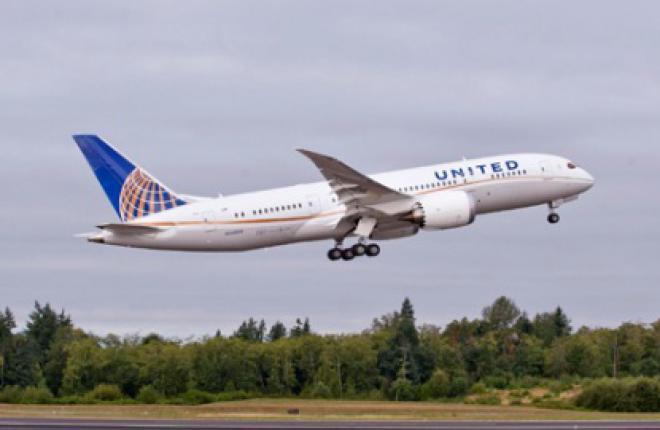 Авиакомпания United Airlines получила первый Boeing 787