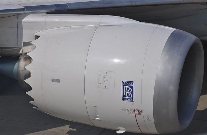 Двигатель Trent 1000 на самолете Boeing 787