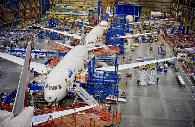 сборочная линия Boeing
