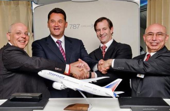 """Авиакомпания """"Трансаэро"""" подписала твердый контракт на Boeing 787"""