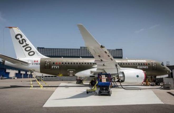 Bombardier снова переносит первый полет нового самолета CS100