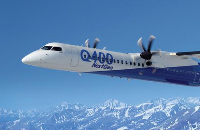 Региональный турбовинтовой самолет Bombardier Q400 сертифицируется в России