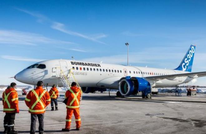 На прототипе Bombardier CS300 запустили двигатели