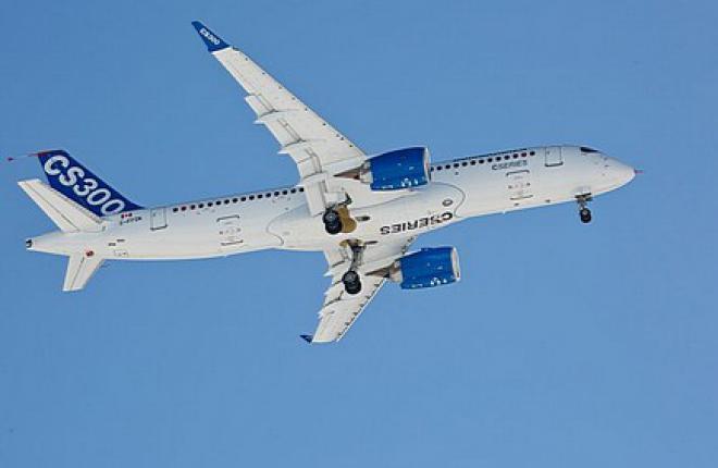 Самолет Bombardier CS300 впервые поднялся в воздух