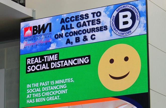 технологии следят за соблюдением требований в аэропорту Балтимор / Вашингтон (BWI)