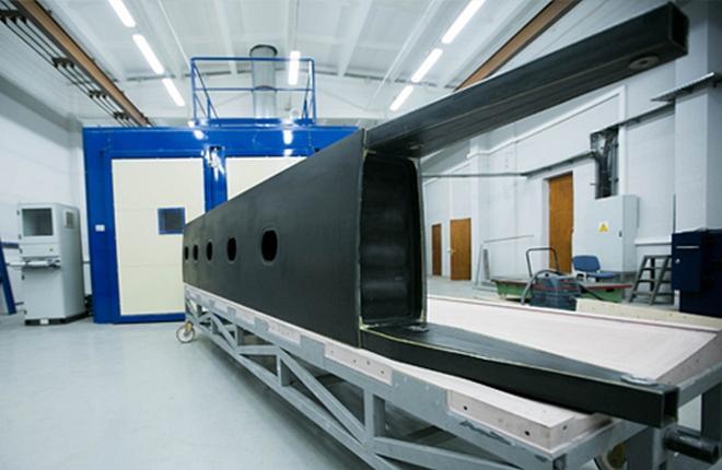 специалисты ЦАГИ и СибНИА изготовили из российских полимерных композиционных материалов демонстратор силовой конструкции крыла перспективного самолета малой авиации