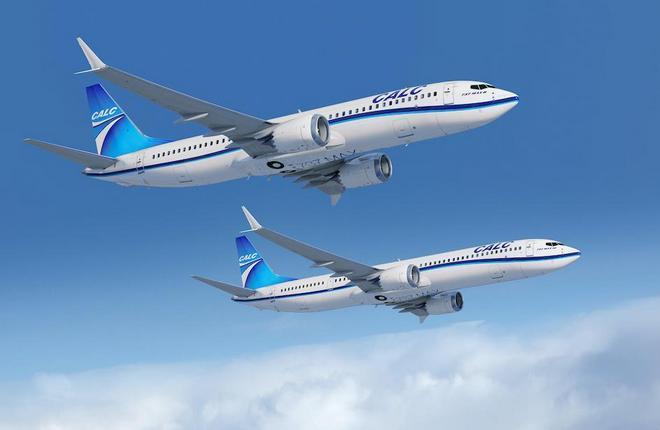 самолеты Boeing 737MAX в цветах лизинговой компании CALC