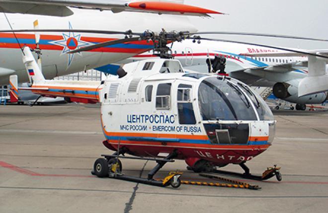 Первый европейский вертолет  в России получило МЧС