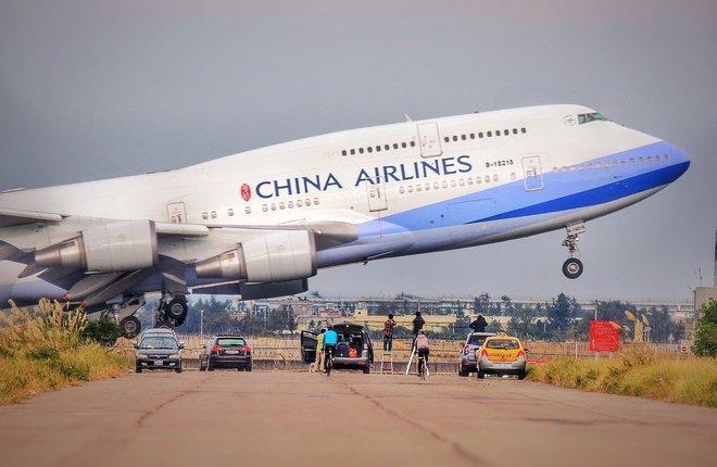 самолет Boeing 747-400 тайваньской авиакомпании China Airlines