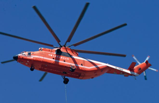 Although Mi-26T giants already work in China, it wants a different rotorcraft