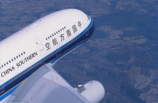 Самолет Airbus A380 авиакомпании China Southern Airlines