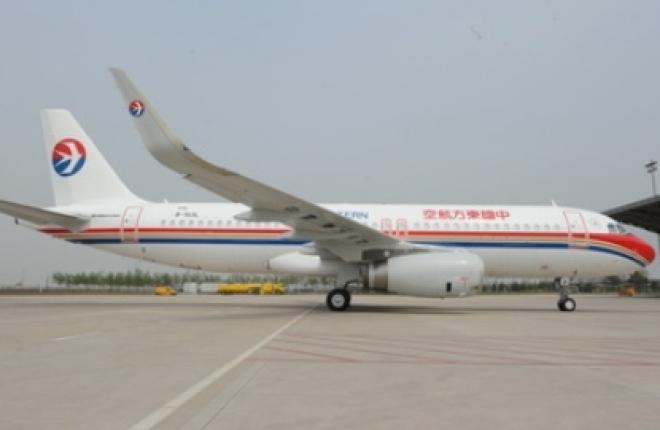 Авиакомпания China Eastern получила первый A320 с законцовками крыла sharklets,