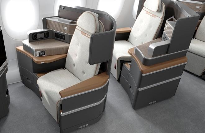 Самолетные кресла бизнес-класса от Recaro