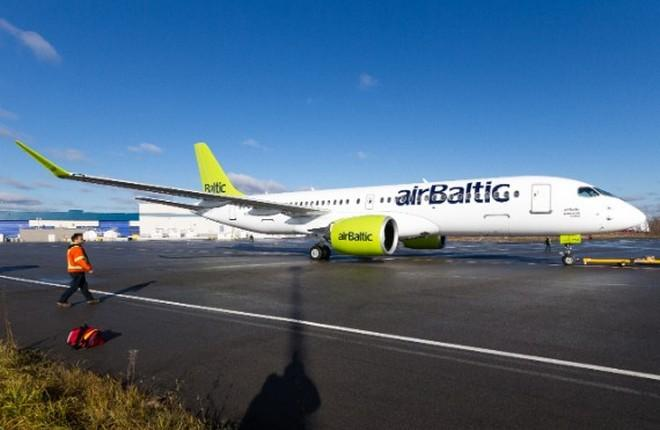 Bombardier CS300 компании airBaltic