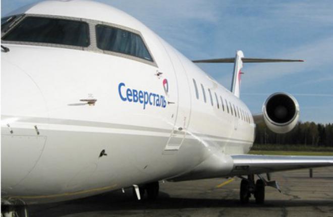 """""""Северсталь"""" полетит в Санкт-Петербург на самолете CRJ-200"""