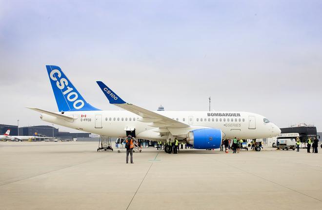 Самолет CSeries впервые полетал по европейским маршрутам
