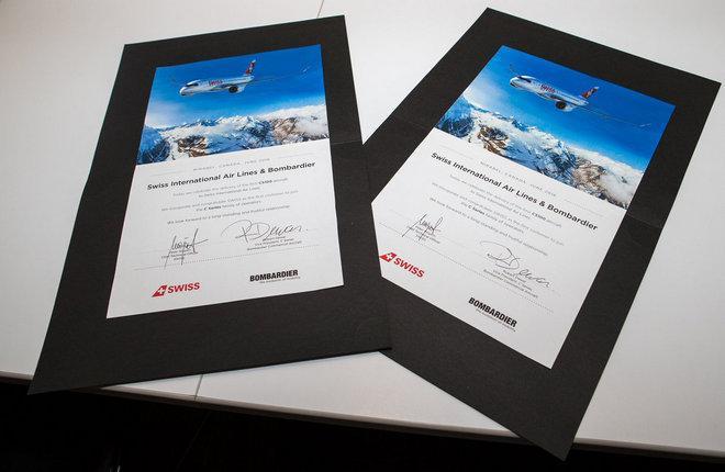Первый самолет семейства CSeries передан заказчику