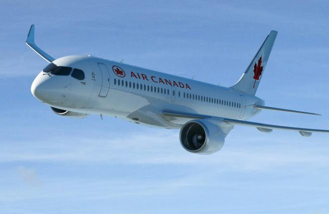 Канадская авиакомпания Air Canada купит 45 самолетов Bombardier CS300