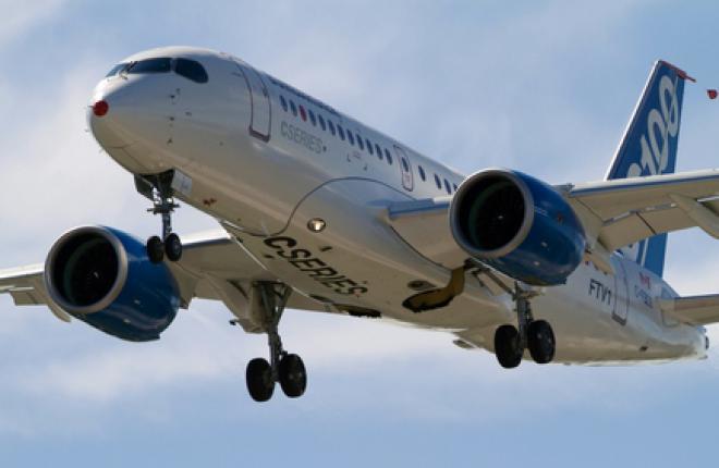 Испытания Bombardier CSeries прерваны из-за двигателей