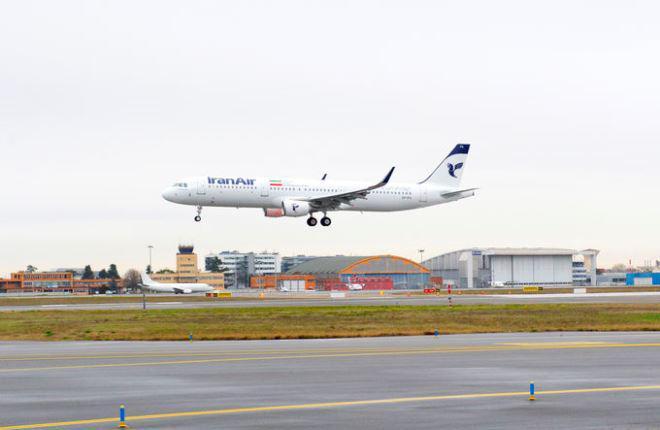 Airbus передал первый новый самолет для Ирана