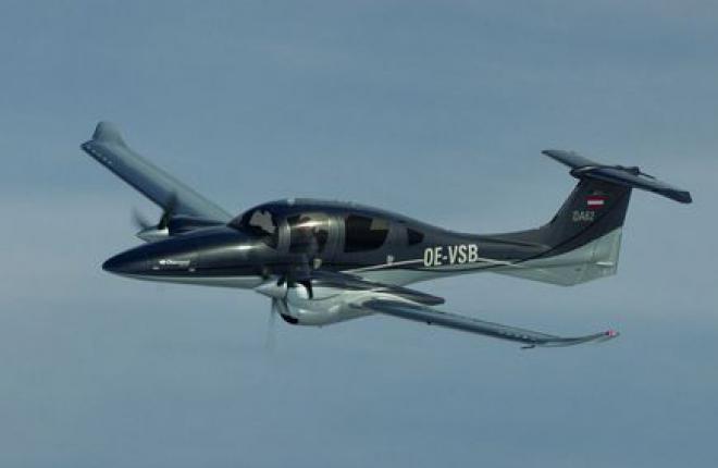 Двухмоторный самолет DA62 получил европейский сертификат