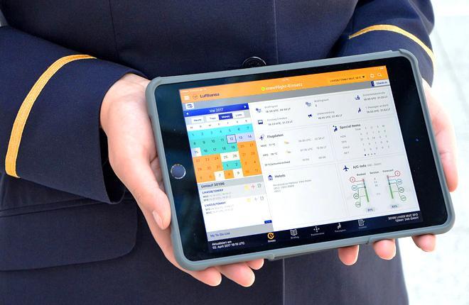 Бортпроводники Lufthansa получат планшеты