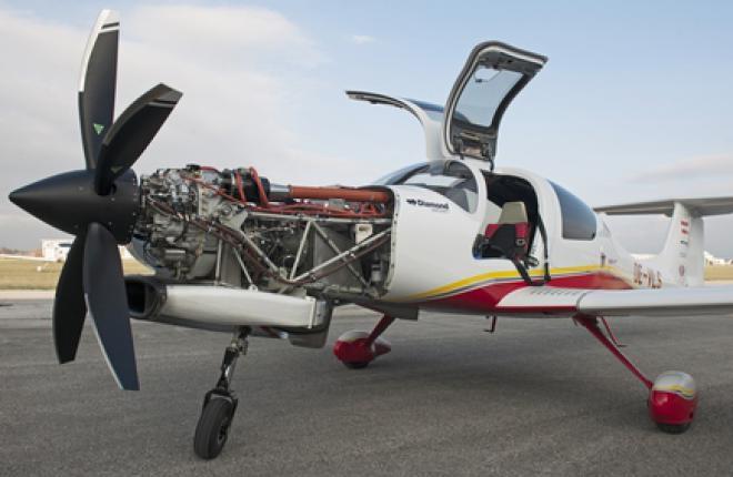 Самолет DA50 с украинским двигателем впервые поднялся в воздух