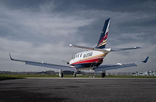 Самолет Daher tbm 940 с российской регистрацией