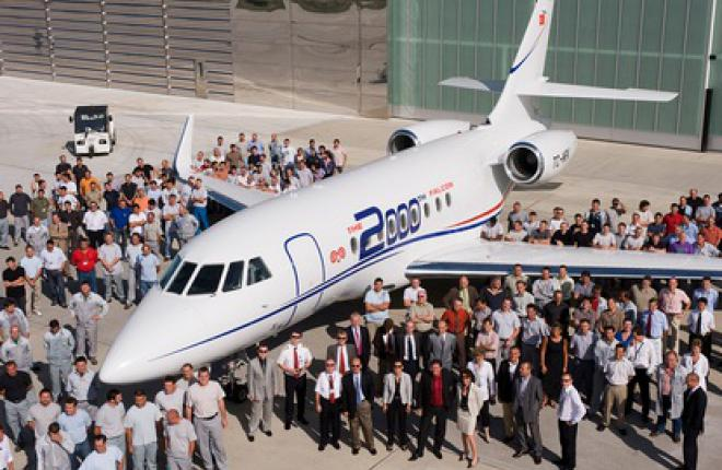 Dassault Falcon поставил 2000 бизнес-джетов