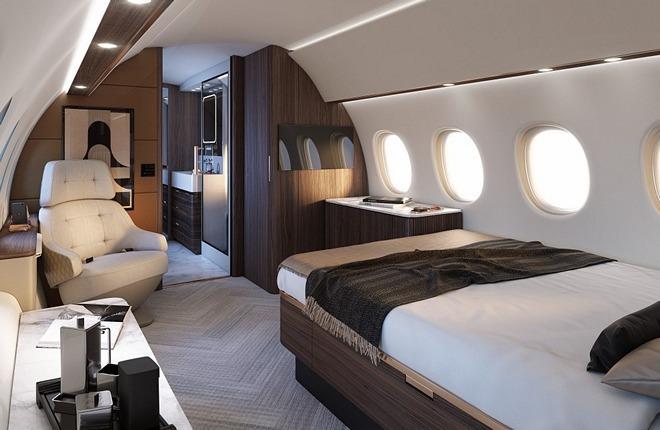 салон делового самолета Dassault Falcon