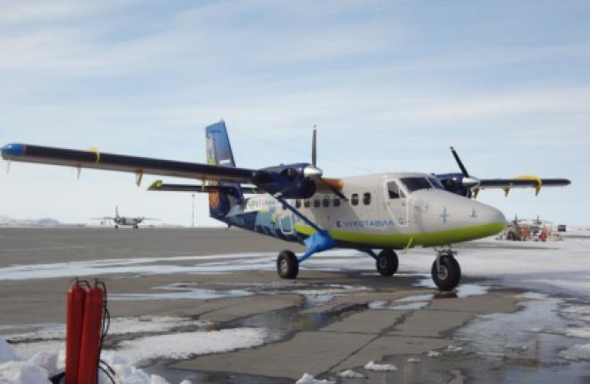 Третий самолет DHC-6 Twin Otter Series 400 прибыл на Чукотку