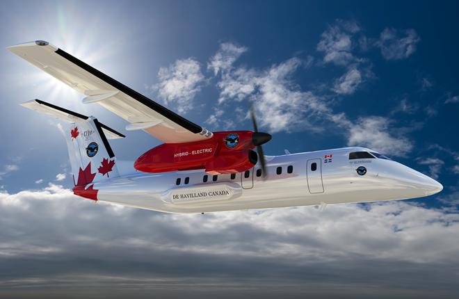 Гибридный электродвигатель Pratt & Whitney полетит на Dash 8 в 2024 году