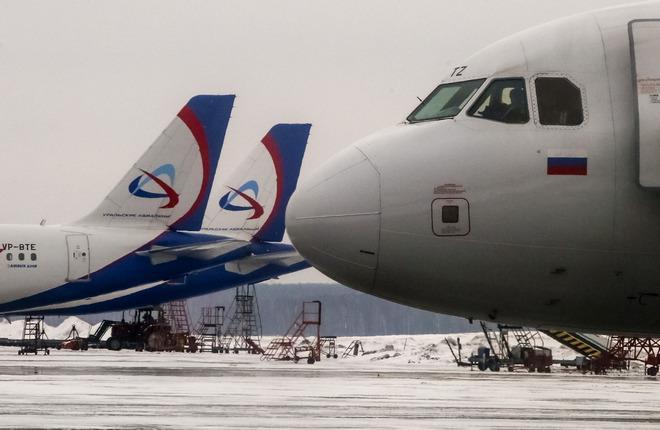 Самолеты российских авиакомпаний в аэропорту Домодедово