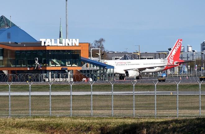 Вид на аэропорт Таллина