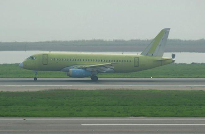 Первый самолет SSJ 100 прибыл в Венецию