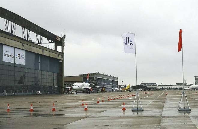 Ангар Jat Tehnika в аэропорту Белграда