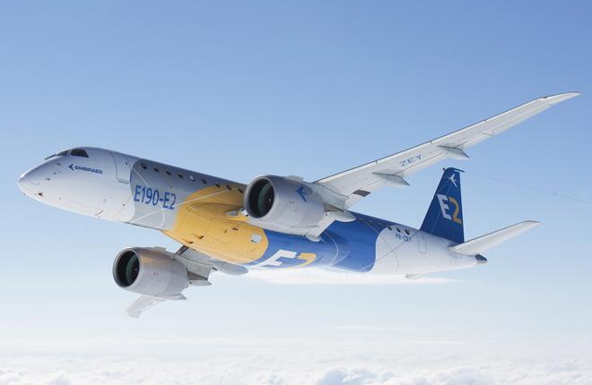 Embraer приступил к летным испытаниям ремоторизованного самолета E190-E2