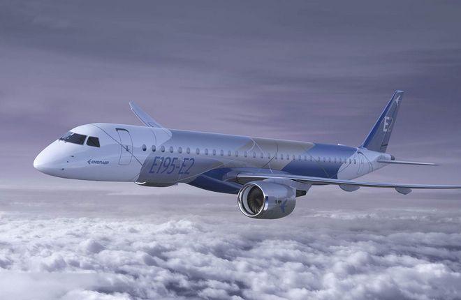 Embraer увеличил дальность полета самолетов семейства E2
