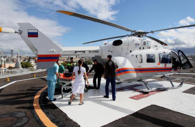 Москва получила два медицинских вертолета EC145
