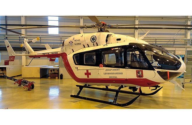 В Московский авиационный центр поступили новые вертолеты ЕС145
