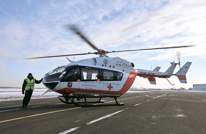 Вертолет EC145 Московского авиационного центра