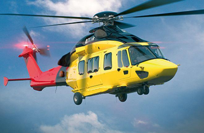"""Aвиакомпания """"ЮТэйр"""" получит первый вертолет ЕС175 производства компании Airbus Helicopters в ноябре 2014 г."""