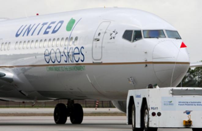 Continental Airlines выполнила первый коммерческий полет на биотопливе