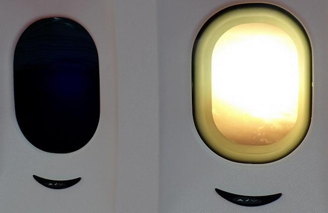 Для возрастных коммерческих самолетов разработали окна с электронным затемнением