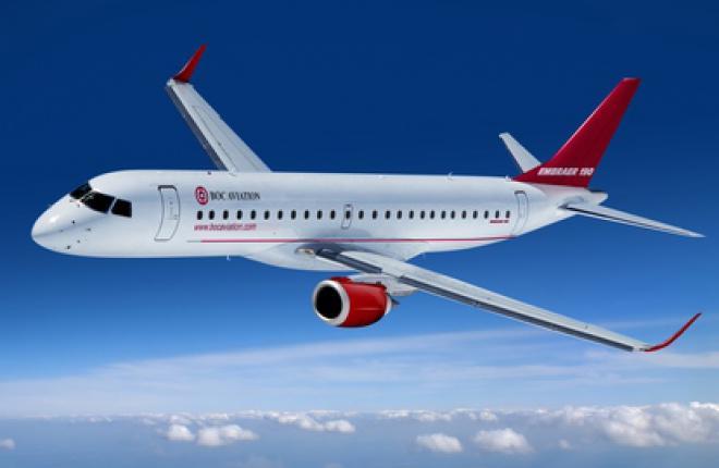 BOC Aviation заказала 15 самолетов Embraer E190